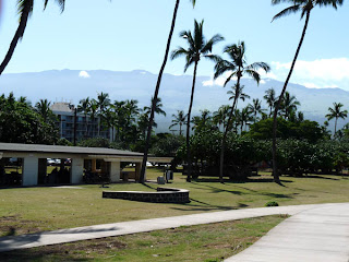 Kalama Beach Park Kihei with Haleakala in background