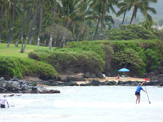 Paddle boarders off Kamaole Beach I