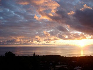 Another unique Kona sunset photo in Hawaii