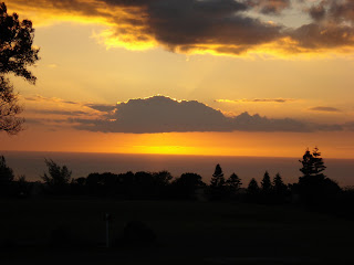 Hawaii sunset from Waikoloa Golf Course condo lanai
