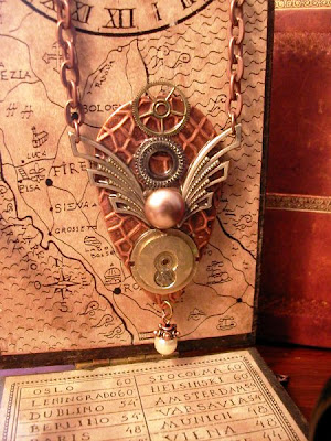 Steampunk (Stile) Steamp.collier+wings