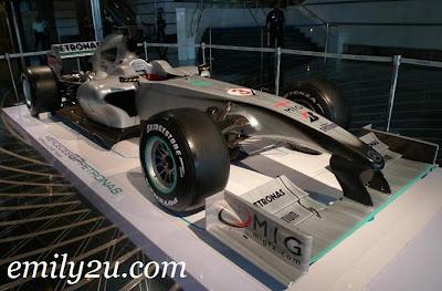 Mercedes GP PETRONAS F1 Team racing car