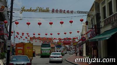 most famous street in Melaka