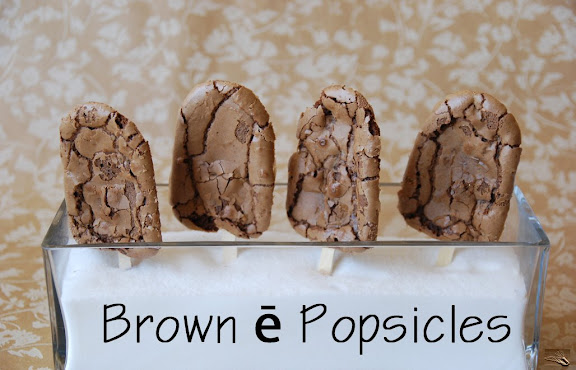 French Chocolate Brownie Popsicles