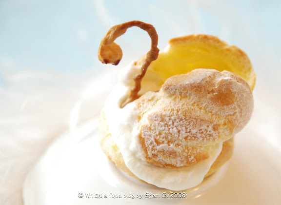 Peppermint Cream Puff Swan