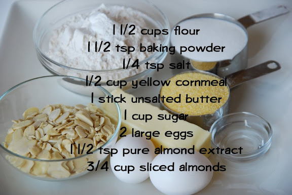Ingredients for Lenox Almond Biscotti