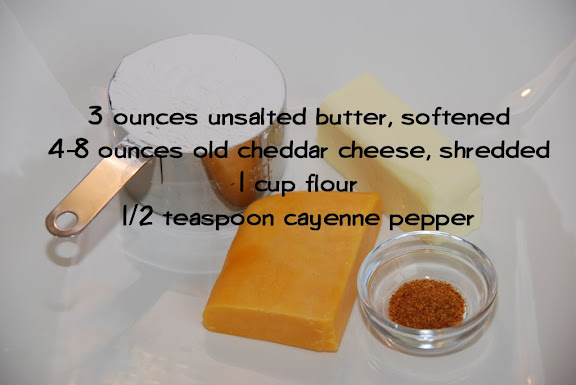 Ingredients for Cheddar Shortbread