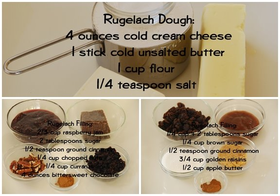 Ingredients for Rugelach