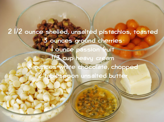 Ingredients for White Chocolate Filling