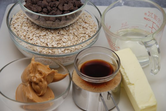 Ingredients for Peanut Butter Bars - version 2