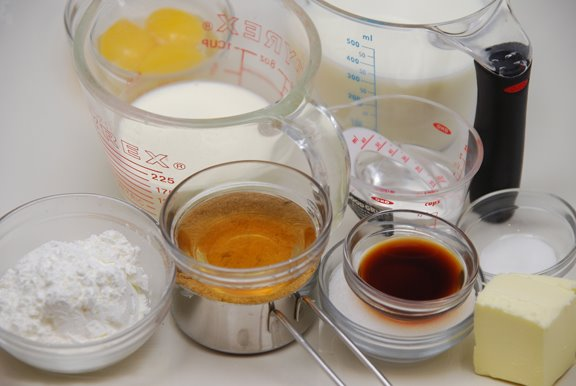 Ingredients for Real Butterscotch Pudding