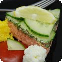 Truite de Mer, Sauce Verte (Whole Poached Salmon Trout with Herbed Mayonnaise)