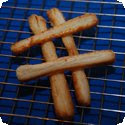 Allumettes au fromage (Puff pastry strips with cheese)