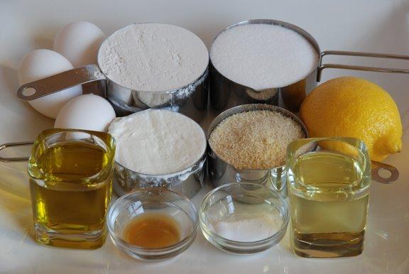 Ingredients for Lemon Yogurt Cake