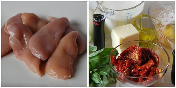 Ingredients for Chicken with Sun-Dried Tomato Cream Sauce