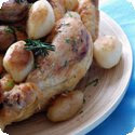 Poulet en Cocotte Grand-Mère (Braised Chicken Casserole with Bacon, Mushrooms, Potatoes, and Onions)