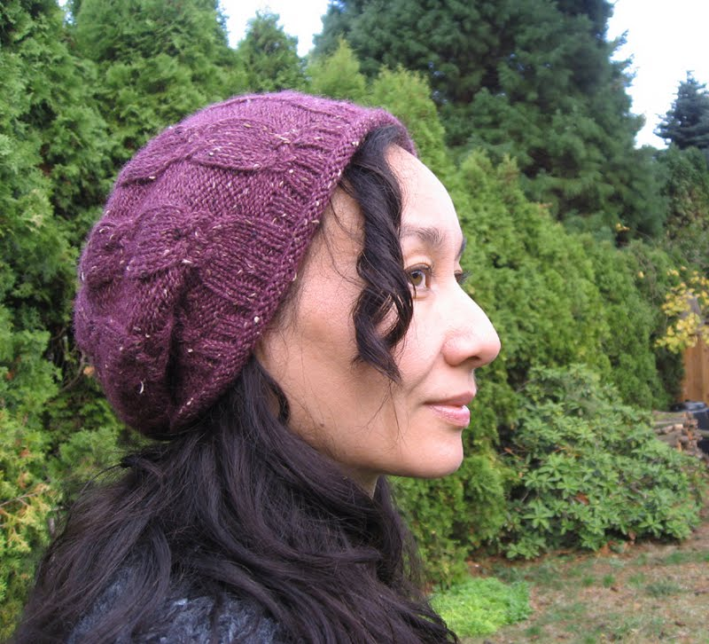 AZURE KNITS BLOG: Free Pattern! Quick Cable Slouch Hat//Hat