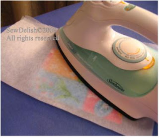 Non-stick ironing paper for iron-on interfacing
