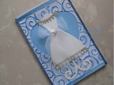 Cuttlebug sizzix card embossed wedding card bridal shower