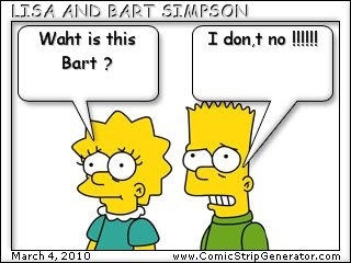 Primary bloggers my comic with lisa and bart by laura - Bart simpson nu ...