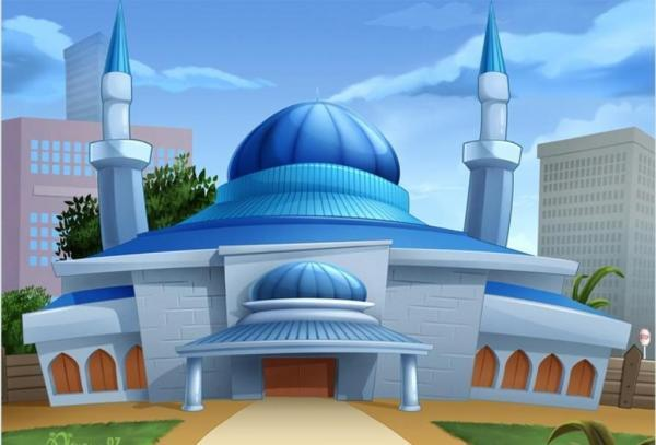 cartoon masjid