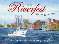 Picture of the poster for the 2010 Riverfest in Wilmington, NC