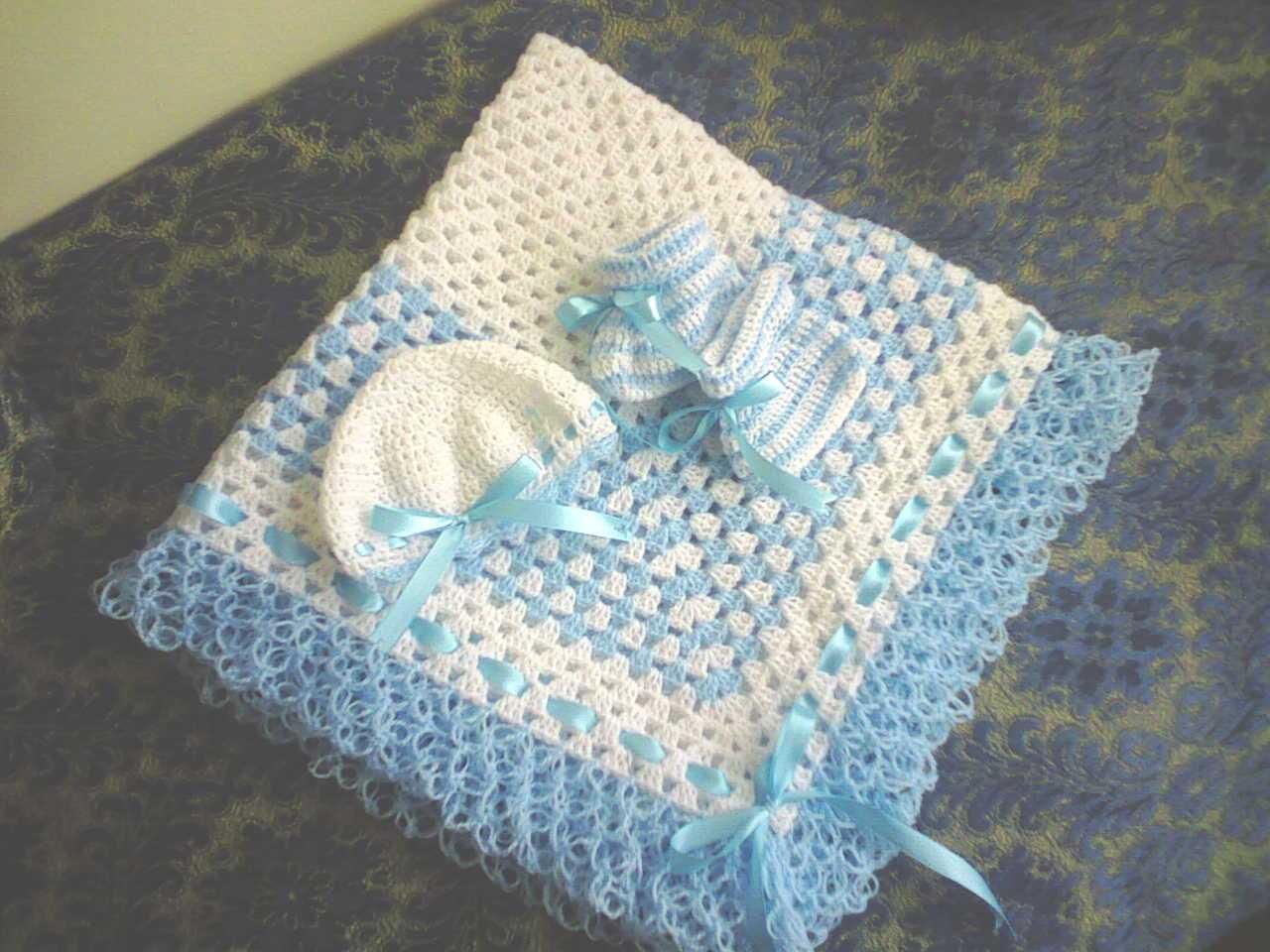 Ma passion pour le crochet couverture pour b b - Carre crochet pour couverture bebe ...