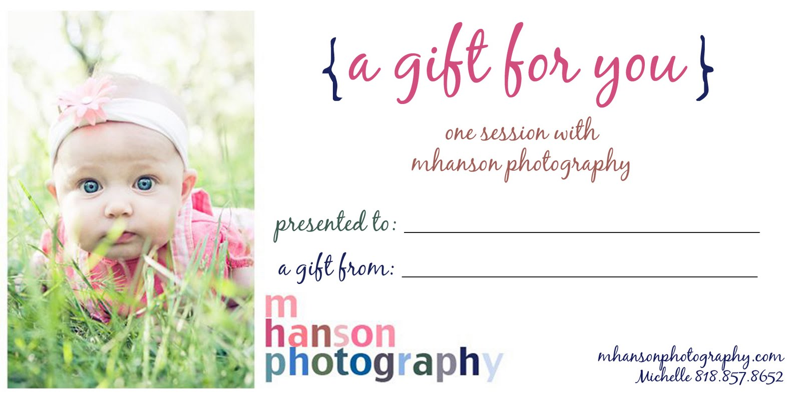 Monday  November 22  2010Photography Gift Certificate Ideas