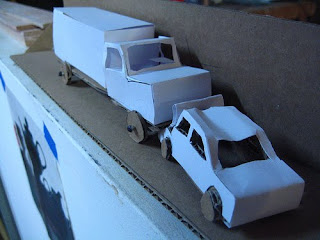 shannon's maquette for the Cardboard Car Crash. by chadmagiera via Flickr