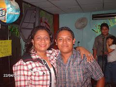"""Jesus A. Cermeño junto a Zuly Tovar """"La Apureña"""""""