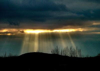 Sunburst over Craig Dunain