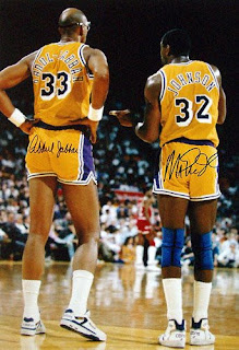 Kareem Abdul Jabbar and Irvin