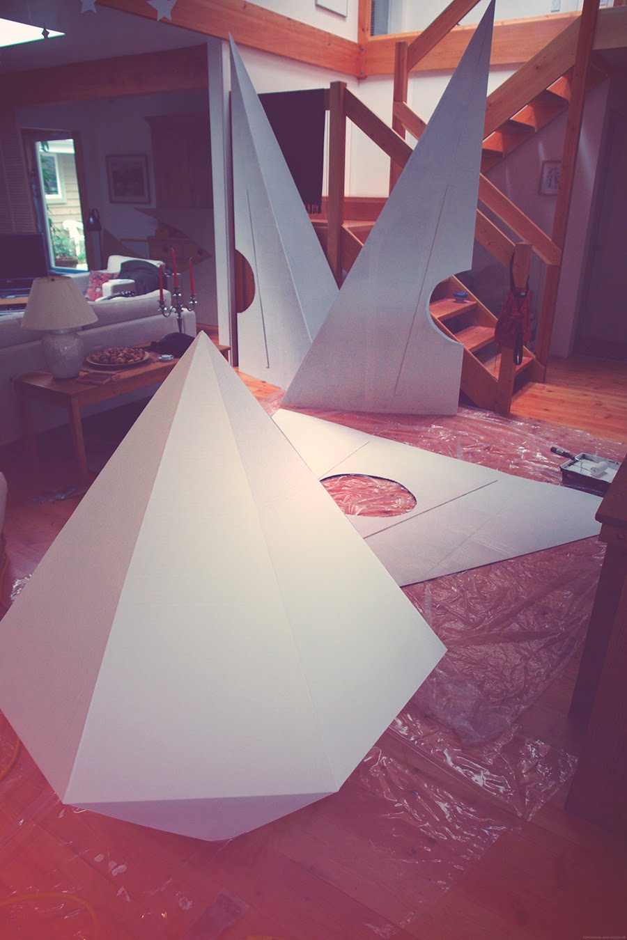 ADRIEN DEGGAN'S BLOG: Three Giant Paper Airplanes and a Sapphire.