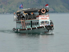 BOAT CROSSING LAKE TOBA-NORTH SUMATERA,INDONESIA