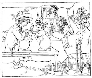 Alice in Wonderland Reading Coloring Pages