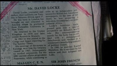 David Locke'un ölüm haberi