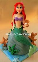 Topo de Bolo - Princesa Ariel