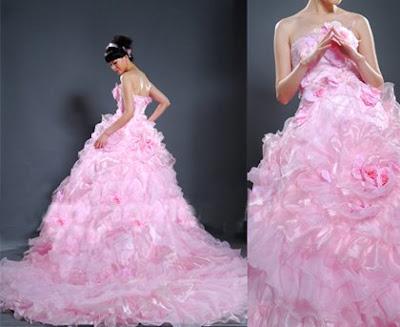 Cheap glistening chiffon purple straps flower v neck honorable empire bridesmaid pink wedding dress