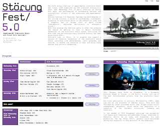 Störung Festival 5.0 of experimental electronic music and visual arts