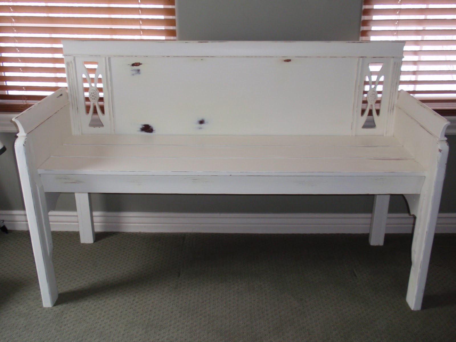 Diary Of A Crafty Lady Bench Made From A Headboard And Footboard