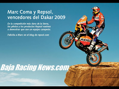 Auto Racing  Mexico on Baja Racing News Live   Repsol And Baja Racing News Com Announcement