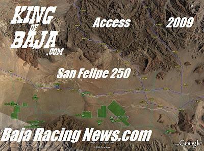 San Felipe 250 Baja Racing News.com Maps