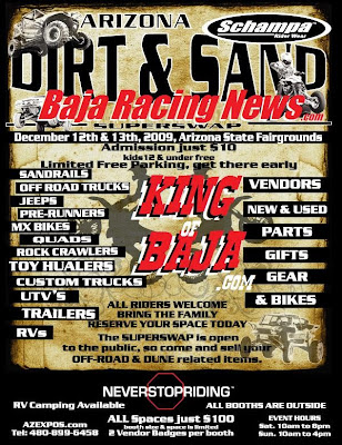 Baja Racing News Announces Arizona Dirt and Sand Expo and Super