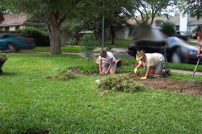 Divasofthedirt, dig up grass