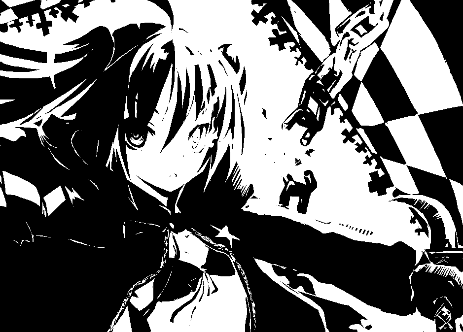 Black rock Shooter ! Black_Rock_Shooter_BxW_by_purdoy25