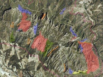 Mapes de la regulació de l'escalada a Montserrat