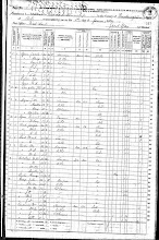 6/1/1870 FEDERAL CENSUS WEST FORK TOWNSHIP WASHINGTON COUNTY ARKANSAS