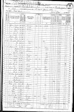 6/1/1870 FEDERAL CENSUS WEST FORK TOWNSHIP WASHINGTON COUNTY ARKANSAS