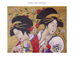 My Geishas on handpainted needlepoint canvases at Maggie Co