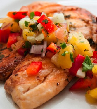 Tropical salsa with grilled fish drick 39 s rambling cafe for Fruit salsa for fish